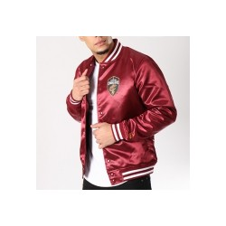 NEW ERA BOMBER JACKET CLEVELAND CAVALIERS BORDEAUX