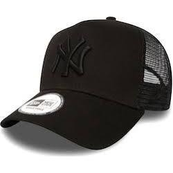NEW ERA CAP NY TRUCKER  BLACK